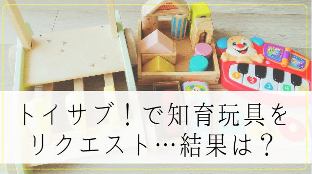 トイサブ!のリクエストは神システム!1歳の娘が知育玩具で激変&感涙した話